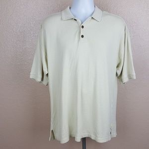 Tommy Bahama Men's Polo Shirt Size Large Beige TA2